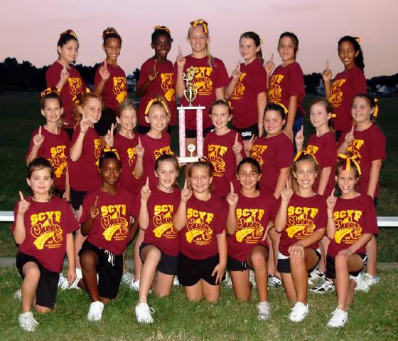 Pee wee cheerleading competitivo